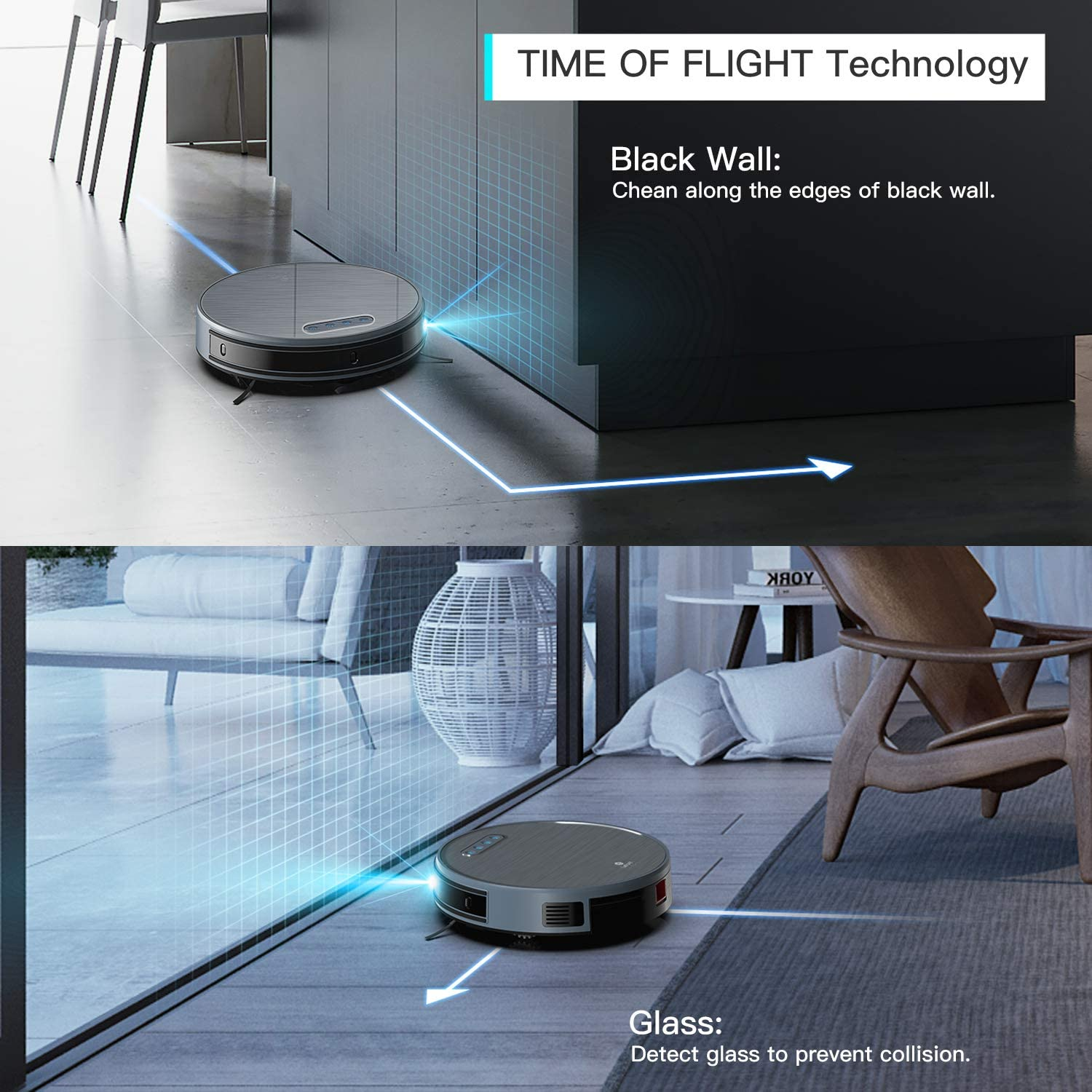 Lefant Robot Vacuum and Mop, Self-Charging Slim Quiet Robotic Vacuum Cleaner, Wi-Fi Connected